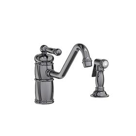 Midnight Chrome Single Handle Kitchen Faucet with Side Spray