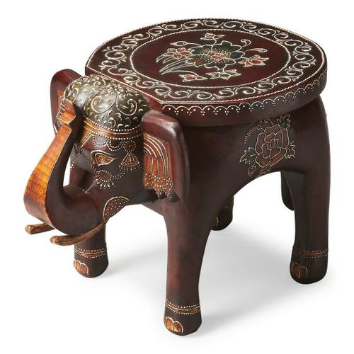 Butler Specialty Company - This vibrant accent table will display your passion for the traditional painted artifacts of the Far East. Individually handcrafted from mango wood solids with textured hand painted details, this elephant table symbolizes wisdom, good luck and good fortune.