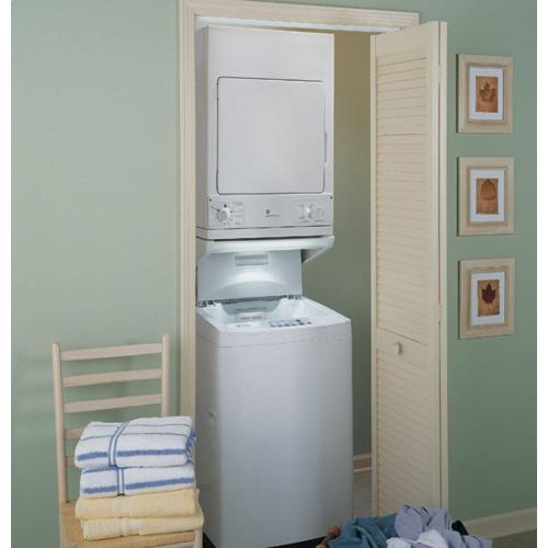 GE Appliances - GE Spacemaker® 240V 3.6 cu. ft. Capacity Stationary Electric Dryer