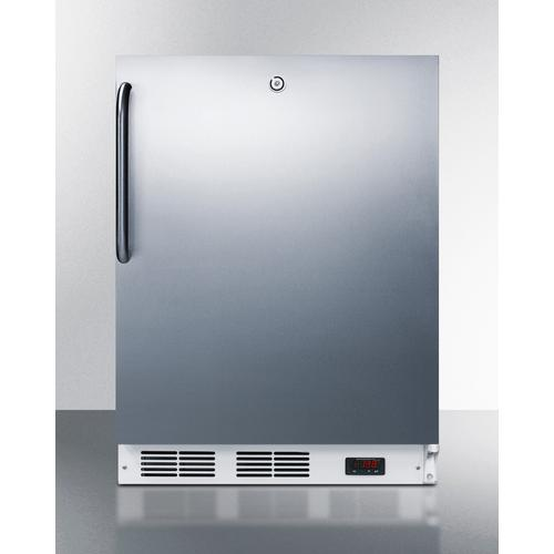 ADA Compliant Medical Grade Commercial All-freezer Capable of -25 C Operation, With Wrapped Stainless Steel Door, Towel Bar Handle, and Lock