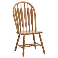 Classic Oak Chestnut Plain Arrow Side Chair Product Image