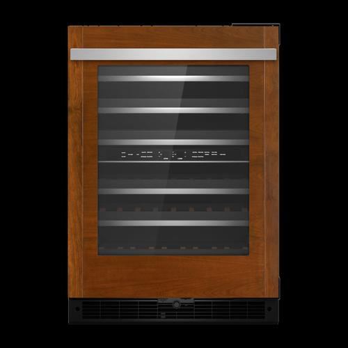 """Panel-Ready 24"""" Built-In Undercounter Wine Cellar, Right Swing"""