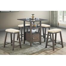 5-pcs Counter Height Dining Set