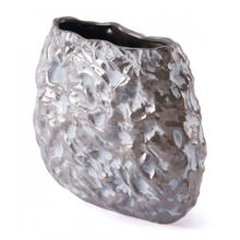 Medium Stones Vase Metallic Brown & White