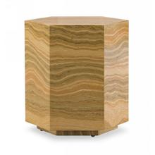 View Product - Modrest Lacuna - Glam Amber and Gold Marble End Table