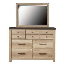 Barnwood Seven Drawer Dresser in Brown