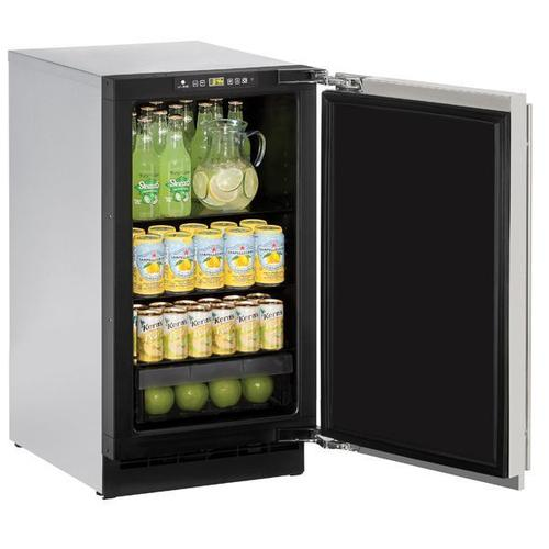"""18"""" Refrigerator With Stainless Solid Finish (115 V/60 Hz Volts /60 Hz Hz)"""