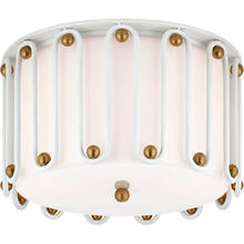 AERIN Molene 3 Light 15 inch White and Gild Flush Mount Ceiling Light, Medium