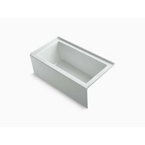 """Ice Grey 60"""" X 32"""" Alcove Bath With Integral Apron, Integral Flange and Right-hand Drain"""