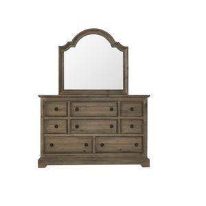 Progressive Furniture - Dresser \u0026 Mirror - Caramel Finish