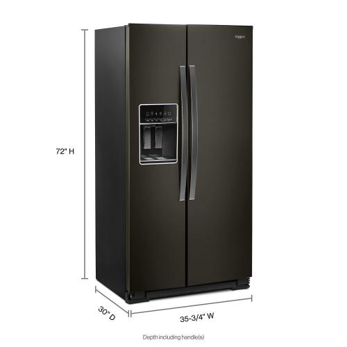 Whirlpool - 36-inch Wide Side-by-Side Counter Depth Refrigerator - 23 cu. ft.