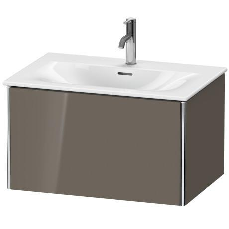 Product Image - Vanity Unit Wall-mounted, Flannel Gray High Gloss (lacquer)