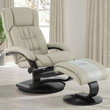 Narvick Recliner & Ottoman in Beige Air Leather