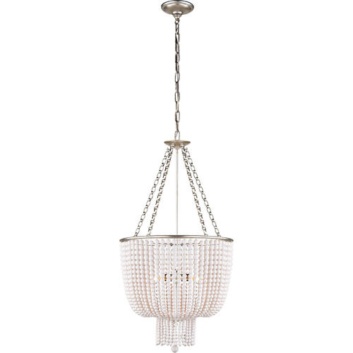 AERIN Jacqueline 4 Light 19 inch Burnished Silver Leaf Chandelier Ceiling Light