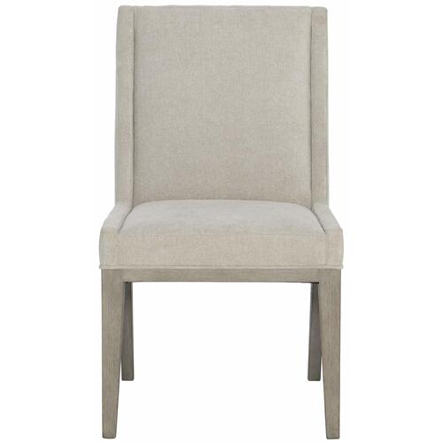Linea Upholstered Side Chair in Cerused Greige (384)