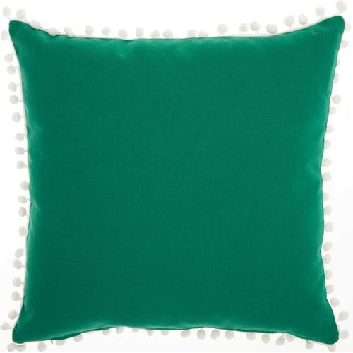 "Home for the Holiday L7040 Green 18"" X 18"" Throw Pillow"
