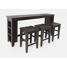 Madison County Barnwood 4pc Sofa Console, Stool Set - Barnwood