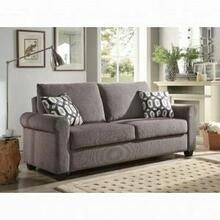 ACME Neveah Sofa w/Sleeper (2 Pillows) - 50270 - Gray Chenille