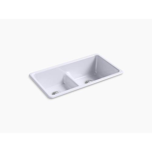 "Lavender Grey 33"" X 18-3/4"" X 9-5/8"" Smart Divide Top-mount/undermount Double-equal Kitchen Sink"