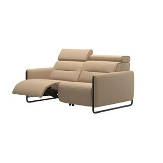 See Details - Stressless® Emily 2 seater with left motor arm steel