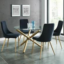 See Details - Carmilla 5pc Dining Set, Gold/Black