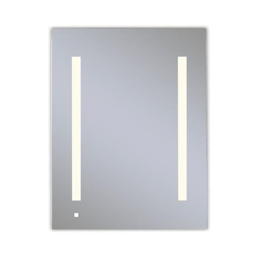 """Aio 23-1/4"""" X 30"""" X 4"""" Single Door Lighted Cabinet With Lum LED Lighting In Soft White (2700k), Dimmable, Built-in Om Audio, Interior Lighting, Electrical Outlet, Usb Charging Ports, Magnetic Storage Strip and Right Hinge"""