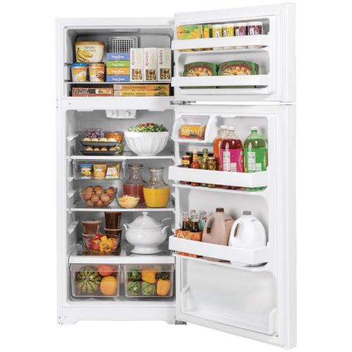 Product Image - GE® ENERGY STAR® 16.6 Cu. Ft. Top-Freezer Refrigerator