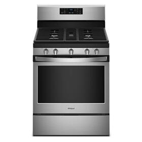 5.0 cu. ft. Freestanding Gas Range with Center Oval Burner Black-on-Stainless