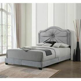ACME Frankie Queen Bed - 26410Q - Gray Velvet