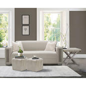 Ashbury Square Accent Ottoman Powder