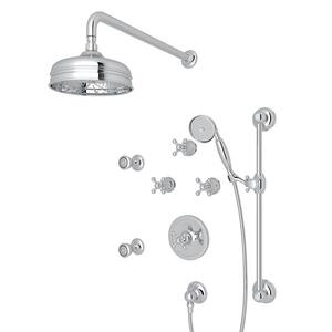 Polished Chrome ARCANA THERMOSTATIC SHOWER PACKAGE with Arcana Series Only Cross Handle Product Image