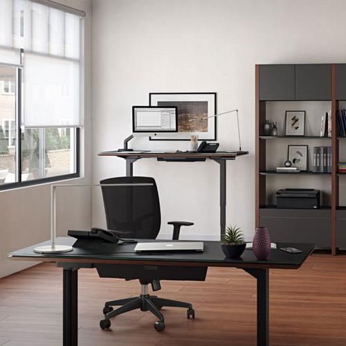 Lift Standing Desk 66 X 30 Top 6052 in Espresso