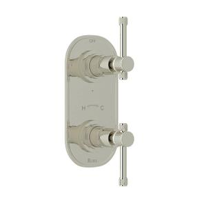 Campo 1/2 Inch Thermostatic and Diverter Control Trim - Polished Nickel with Industrial Metal Lever Handle
