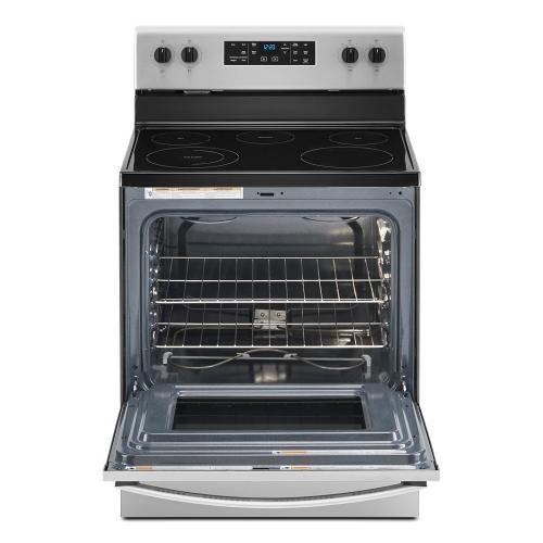 Whirlpool - 5.3 cu. ft. Whirlpool® electric range with Frozen Bake technology.