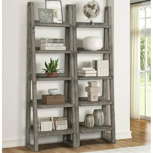 Parker House - TEMPE - GREY STONE Pair of Etagere Bookcases