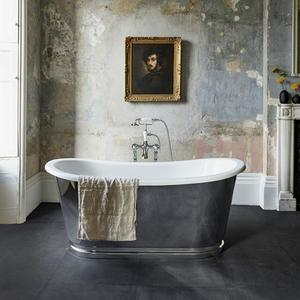 Balthazar Bathtub with Polished Stainless Exterior