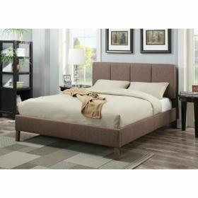 ACME Rosanna Eastern King Bed - 25077EK - Light Brown Linen