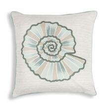 "L268 Vintage Seashell Pillow 18"" X 18"""