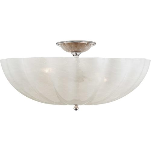 AERIN Rosehill 4 Light 21 inch Polished Nickel Semi-Flush Mount Ceiling Light, Large