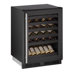 "U-LINE1224wc 24"" Wine Refrigerator With Black Frame Finish (115 V/60 Hz Volts /60 Hz Hz)"