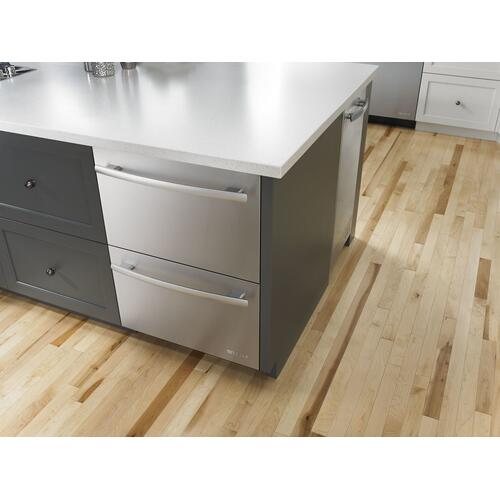 "Euro-Style 24"" Double-Refrigerator Drawers Stainless Steel"