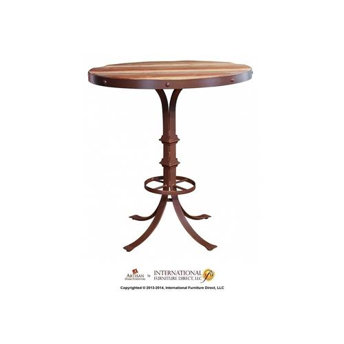 Bistro Top Multicolor Finish & Iron frame