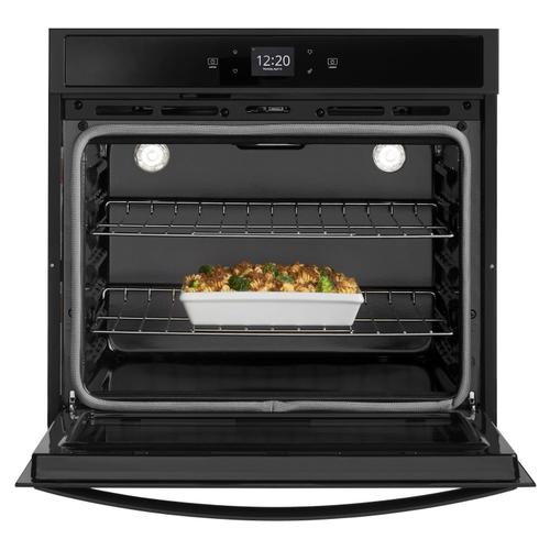 Whirlpool - 4.3 cu. ft. Smart Single Wall Oven with Touchscreen Black