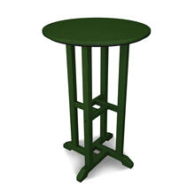 "Green Traditional 24"" Round Counter Table"