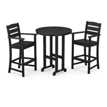 View Product - Lakeside 3-Piece Round Bar Arm Chair Set in Black