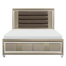 See Details - Eastern King Platform Bed with LED Lighting and Storage Footboard