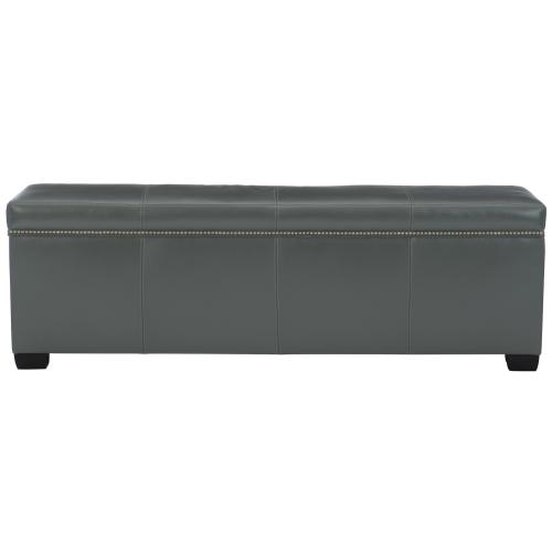 Hamden Leather Bench in Espresso