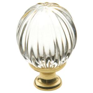Polished Brass Crystal Cabinet Knob Product Image