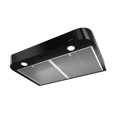 Broan - Broan® Antero 30-Inch Under-Cabinet Range Hood, 375 MAX Blower CFM, Black