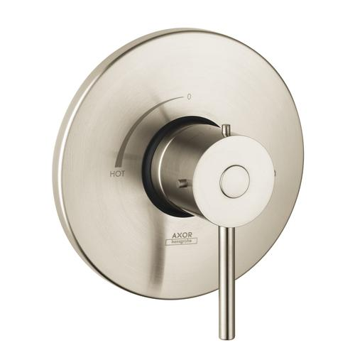 Brushed Nickel Single lever shower mixer for concealed installation with lever handle